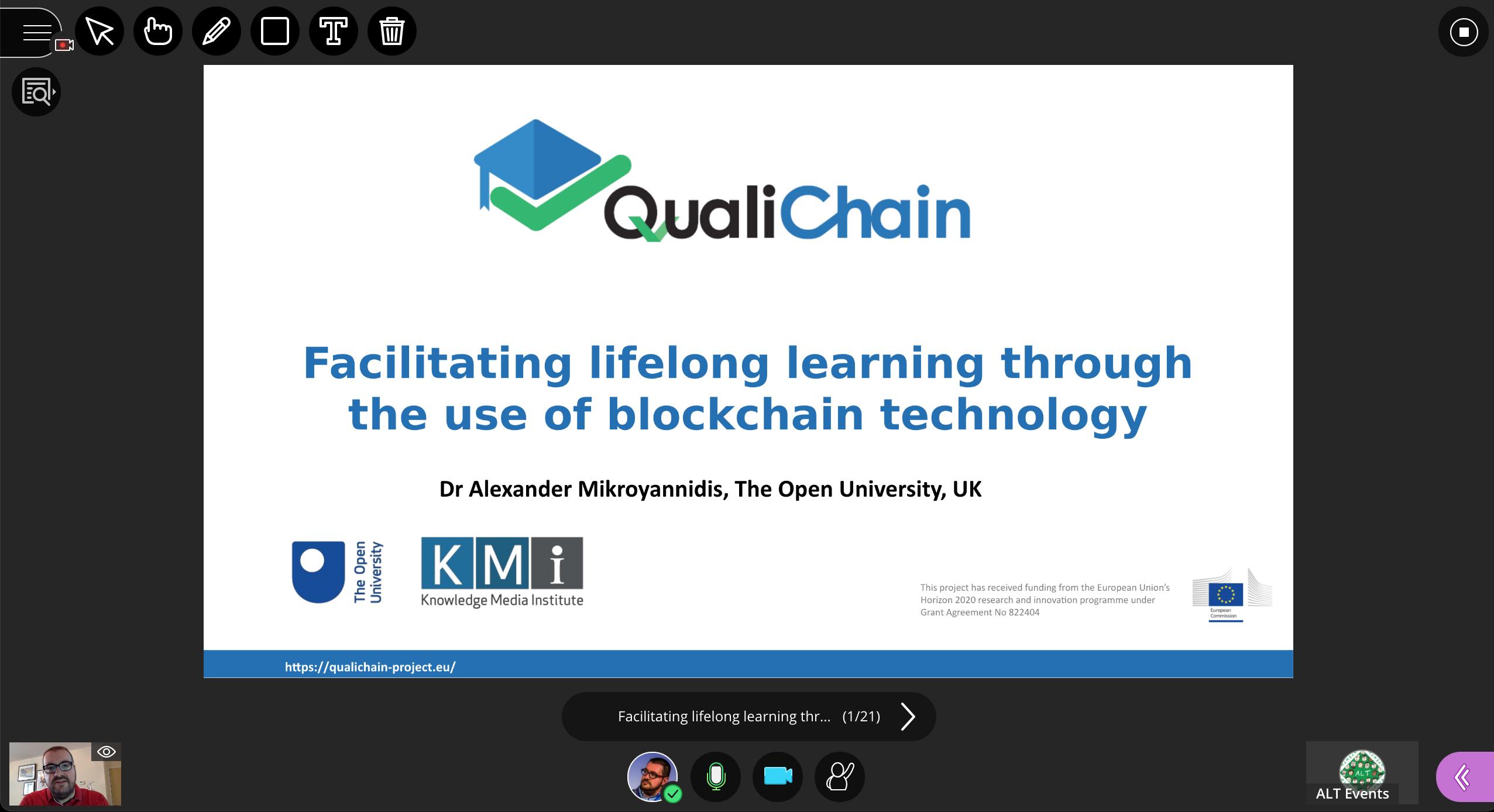 Webinar: Facilitating lifelong learning through the use of blockchain technology
